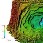 Digitales Geländemodell einer Kiesgrube